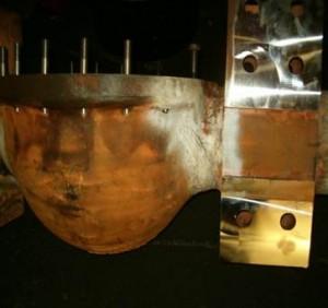 mecanizado de piezas de palas